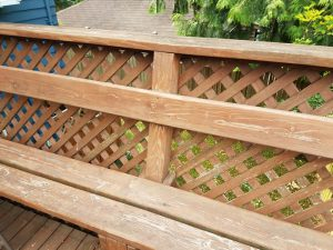 Weathered deck seating