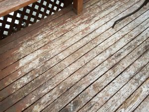 Damaged deck surface